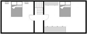 Ferienhaus, erstes Obergeschoss